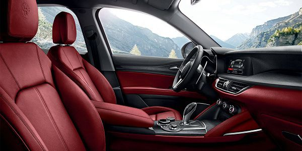 Interior of 2018 Alfa Romeo Stelvio