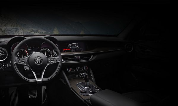 Interior of the 2018 Alfa Romeo Stelvio