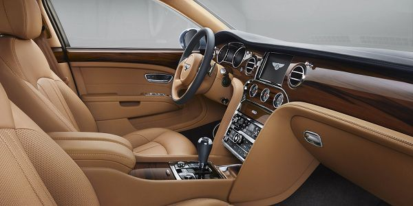 Interior of the 2017 Bentley Mulsanne