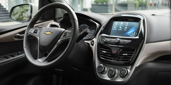 Interior of the 2018 Chevrolet Spark