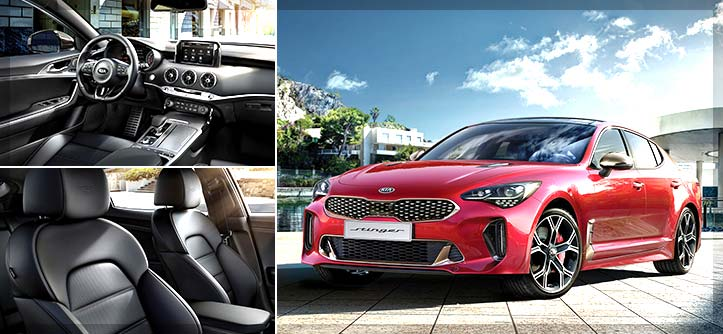 Luxury Cars Dubai - 2018 Kia Stinger Luxury Sports Sedan with a Powerful Twin Turbocharged V6 Engine
