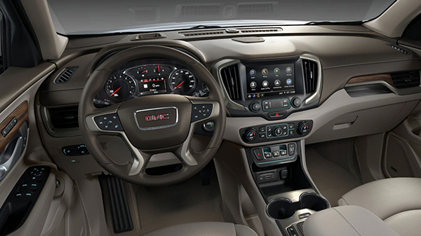 Interior of 2020 GMC Terrain