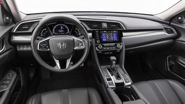 Interior of 2020 Honda Civic