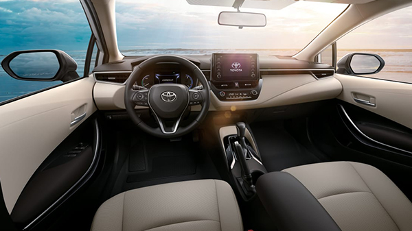 Interior of 2020 Toyota Corolla Hybrid
