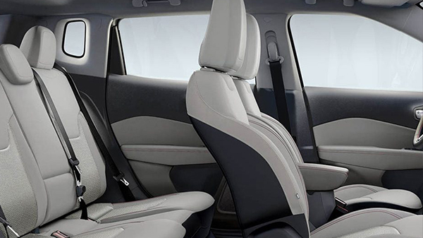 Interior of the 2021 Jeep Compass